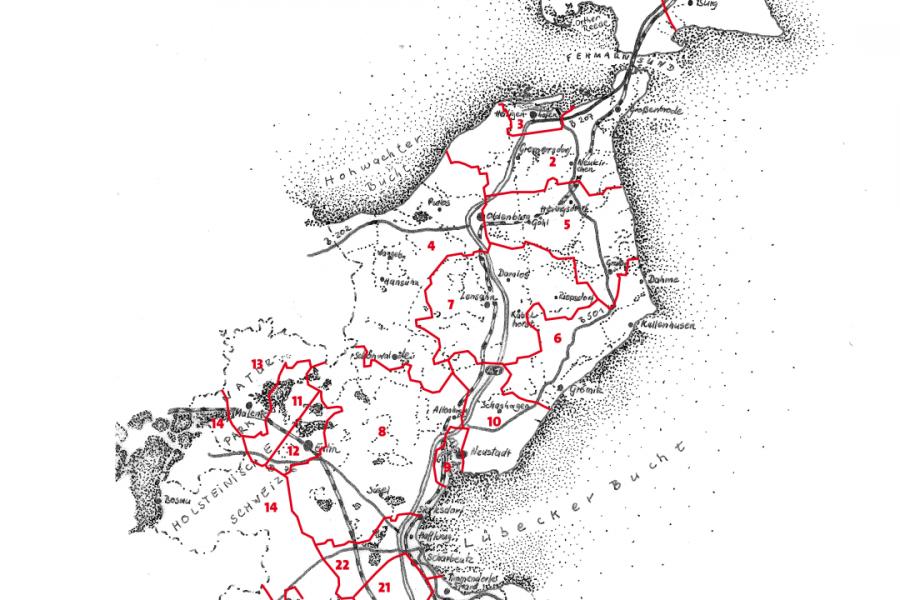Wahlkreiseinteilung zur Kommunalwahl 2018